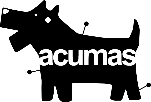 Logotipo Acumás, centro veterinario en Valladolid